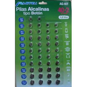 Pila alcalina tipo boton 1 5 v tipo lr44 en mercado libre - Tipos de pilas de boton ...