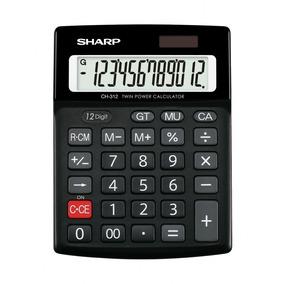 Calculadora Básica Solar De 12 Dígitos Grandes Sharp Ch312