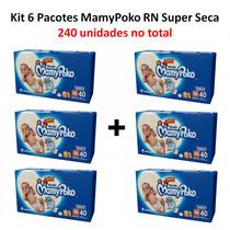 Fralda Mamypoko Super Seca Tamanho Rn Caixa Com 240 Un.
