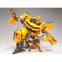 Transformers Carro Robo Bumblebee E Sam Human Alliance Lv3