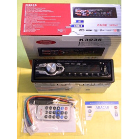 Stereo Radio Bluetooth Usb Frente Desmontable Control K3035