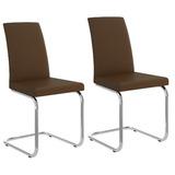 Conjunto 2 Cadeiras Estofadas Carraro 1801 Cromadas - Courís