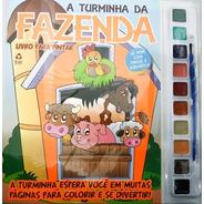 Livro Infantil Colorir Com Aquarela A Turminha Da Fazenda