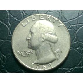 Top Eua, Estados Unidos Moeda Quarter Dollar 1965 Arremate