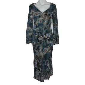 Ivonne Vestido 8 Y Blusa 6 Delgadito Azul Msrp $1,999
