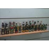 Botellas Miniaturas Antiguas De Colección Vacias Llenas 40