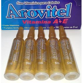Ampola Arovitel Vitamina A + E Vida E Brilho Nos Cabelos 5un