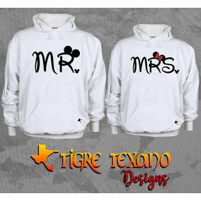 Sudadera Parejas Mr Y Mrs Envío Gratis Tigre Texano Designs
