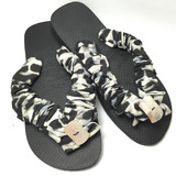 Sandálias Havaianas Decorados Em Tecido Vários Modelos