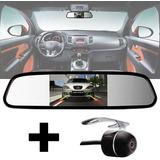 Kit Espelho Retrovisor + Câmera Ré Up Polo Gol Hilux Corolla