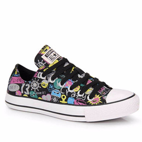 Tênis Converse All Star Ct As Print Stickers Ox Ct3648