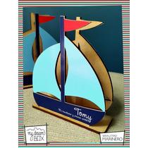 Servilletero Evento Personalizado Madera Nautico Barco Bote