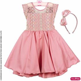 Vestido Infantil Daminha Florista Realeza Primeira Comunhao