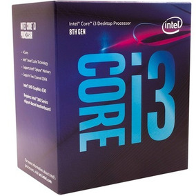 Processador Intel Core I3-8100 Coffee Lake 8a Geração, Cac