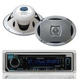 Kenwood Bluetooth Usb Cd Ipod Radio, 2-lanzar 6x9 500w Blanc