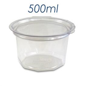 Embalagem Pote Plastico Descartavel Tampa 500ml 400und G771d