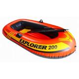 Bote Inflable Intex Explorer 200 95kg Con Remos