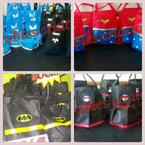 Bolsitas Súper Heroes Batman,flash,linterna Verde, Superm Ma