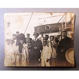 Antigua Fotografia Inmigrantes Barco Genova A B. Aires 1907