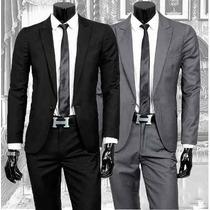 Kit Camisa + Terno Slim + Gravata + Capa + Brindes