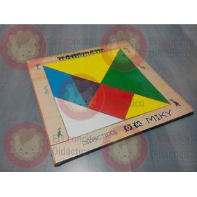 Juguete Didáctico: Tangram Grande. Figuras. Madera. Niños