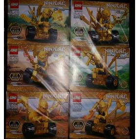 Lego Ninjago - Kit Com 6 Personagens Com Armadura Dourada!!