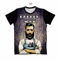 Camiseta Barber Shop Camisa Algodão Estampa 3d Frete Grátis