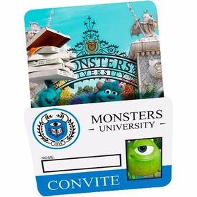 Convite Aniversário Monsters University - Universidade Monst