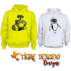 Sudadera Parejas Wall-e Envío Gratis Tigre Texano Designs