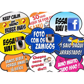 Placas Divertidas /plaquinhas Para Todas As Festas + Palitos