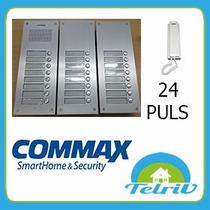 Kit Portero Eléctrico Commax 24 Pulsadores+tel+fuente