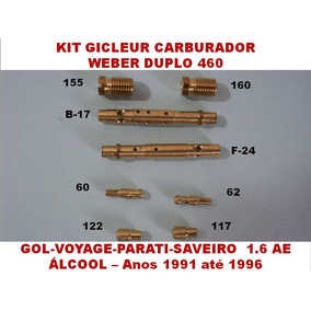Kit Carburador Weber 460 Gol Parati 1.6 Cht Álcool 91/96