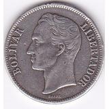 Moneda De Venezuela! 1 Bolivar 1945 - Plata 0,835