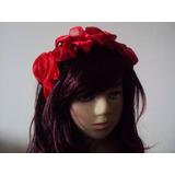 Tiara De Flores De Tecido Rosas Vermelhas