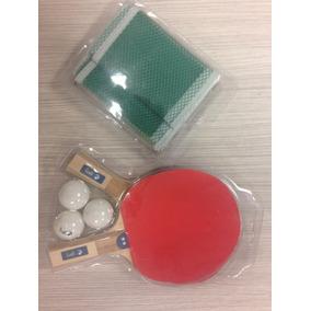 Paquete Con 2 Raquetas De Pin Pon, 1 Red Y 3 Pelotas