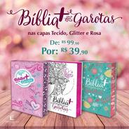 Bíblia + Para Garotas Ntlh Halley Verde - Rosa - Glitter