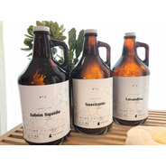 Set 3 Botellones De Vidrio Laundry 1900ml Recargables