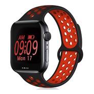 Malla Para Apple Watch Silicona 38/40 Y 42/44 Mm