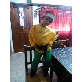 Disfraz De Enanito Duende Para Niños De 7 A 9 Años