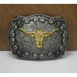 Fivela Cowboy Cabeça Touro,caubói,boiadeiro,rodeio