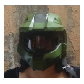 Master Shift Casco Halo Con Luces Motocicleta Disfraz Etc