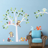 Vinilo Sticker Cuarto Niños Decorativo Pared Animalitos