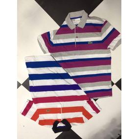 7c337e9677f2e Camisa Lacoste Paises Cor Principal índigo - Camisa Pólo Manga Curta ...