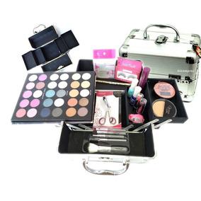 Maleta Maquiagem Profissional A87 3d Esponja Silicone Makeup