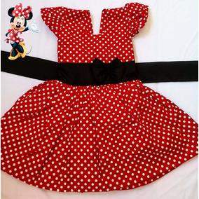 Vestido Infantil 2 Festa Minnie Roupa/fantasia