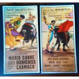 Excelente Set D Muy Bellas Postales Taurinas /coleccionables