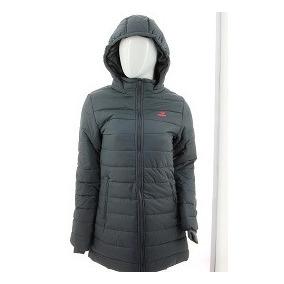 Campera Larga De Mujer Abrigo C/capucha Topper