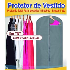 Capa Protetor De Vestido Com Zíper 100% Tnt Barato