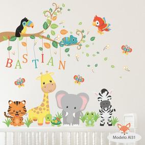 vinilos decorativos infantiles arboles animales aia al