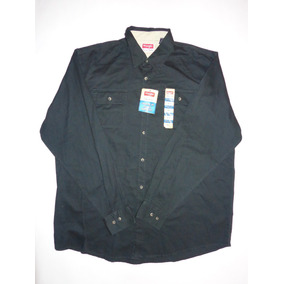 Wrangler Camisa Relaxed Fit Caballero X L Nueva Negra!!!